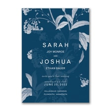 Floral Elegance Invitation  - floral invitation