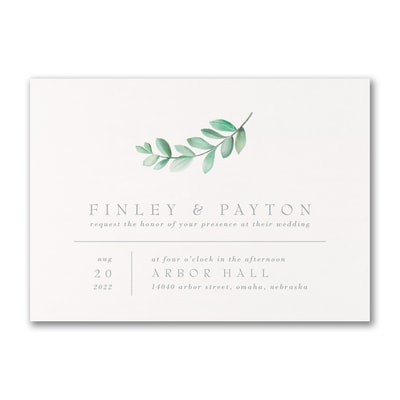 Simplistic Botanical Invitation