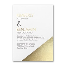 Modern wedding Invitation: Modern Shine Invitation