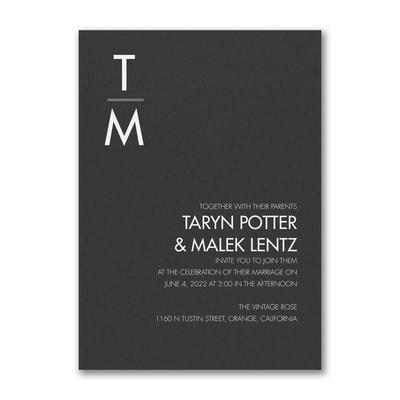 Classic Typography Invitation