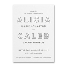 Best Selling Wedding Invitation: Bold Beauty Invitation