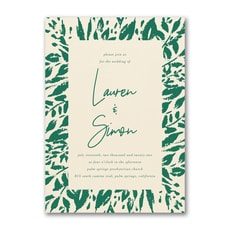 : Wondrous Greenery Invitation