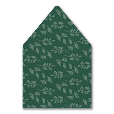 Wondrous Greenery Envelope Liner