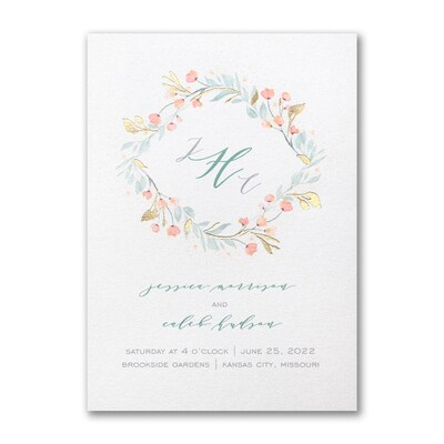 Fresh Monogram Invitation