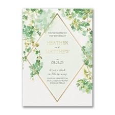 Cascading Vine Invitation