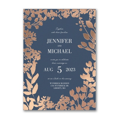 Decorative Floral Border Invitation