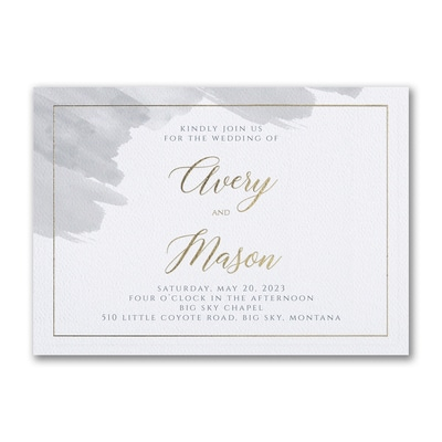 Brushed Watercolor Invitation