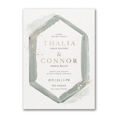 Watercolor Diamond Invitation