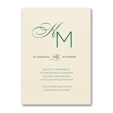 Wedding Invitation: Initially Loved Invitation