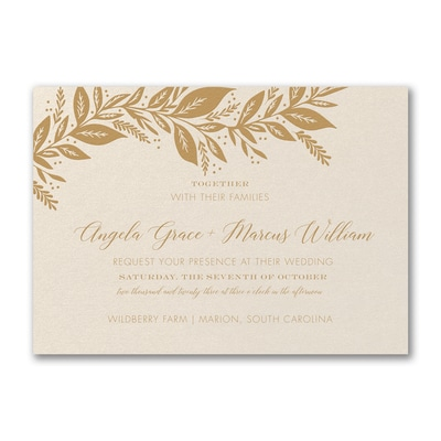 Canopy of Leaves Invitation