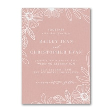 floral invitation: Blossoming Border Invitation