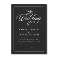 Edged Wedding Invitation