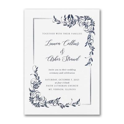 Tender Lovebirds Invitation