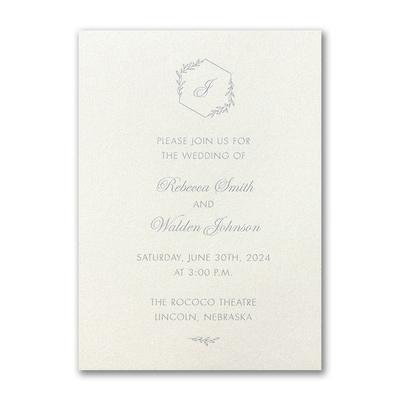 Greenery Monogram Invitation