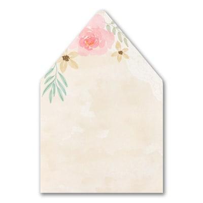 Budding Watercolor Envelope Liner