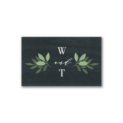 Woodgrain Greenery Tab