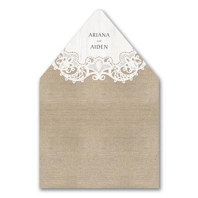 Ornate Burlap Envelope Liner