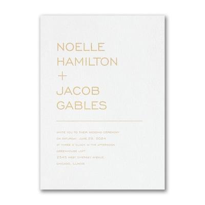 Lined Typography Invitation