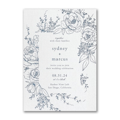 Decorative Floral Frame Invitation