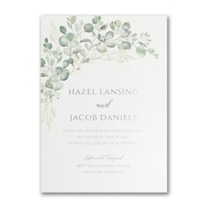 greenery wedding invitation: Watercolor Verdure Invitation