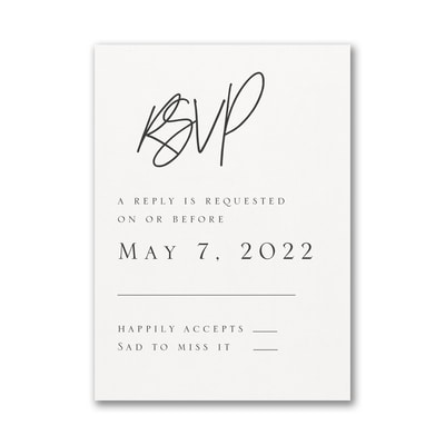 Modern Dreams Response Card and Envelope
