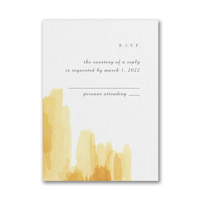 Painted Passion Response Card and Envelope