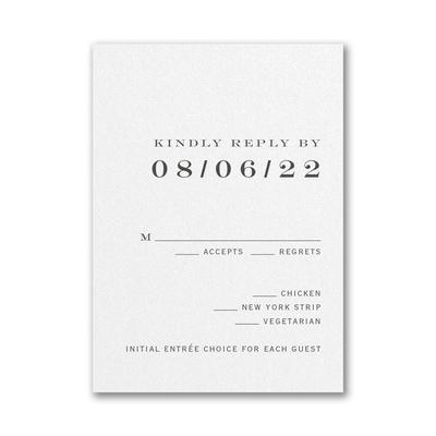 Modern Ampersand Response Card and Envelope