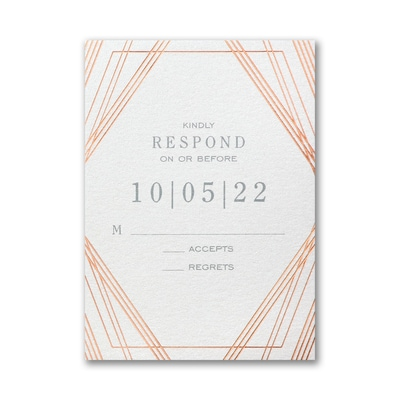 Geometric Stripes Response Card and Envelope