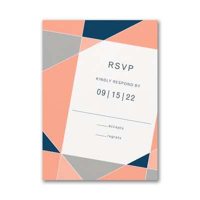 Geometric Color Block Response Card and Envelope