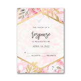 Vibrant Botanicals Response Card and Envelope