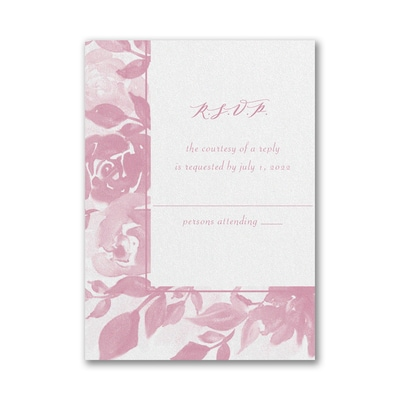 Botanical Elegance Response Card and Envelope