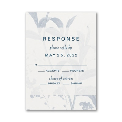 Floral Elegance Response Card and Envelope