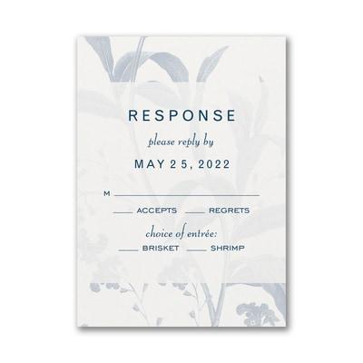 Floral Elegance Response Card and Envelope