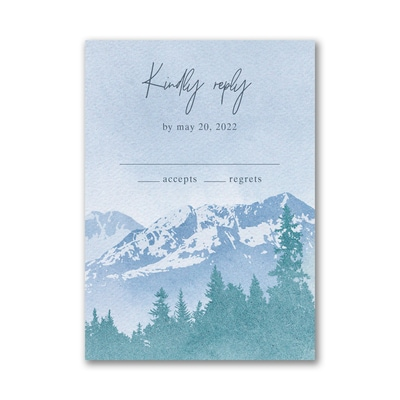 Mountain Beauty Response Card and Envelope