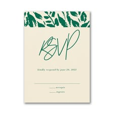 Wondrous Greenery Response Card and Envelope