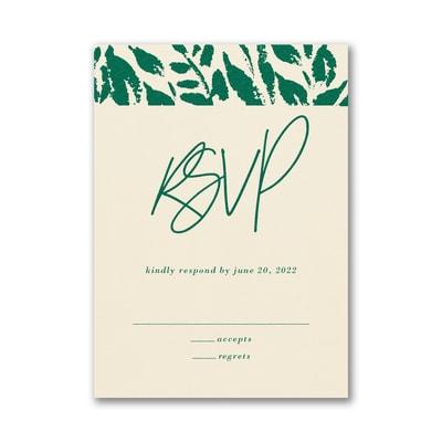 Wondrous Greenery Response Card and Envelope
