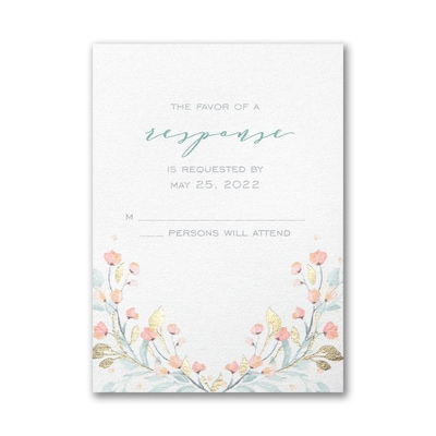 Fresh Monogram Response Card and Envelope