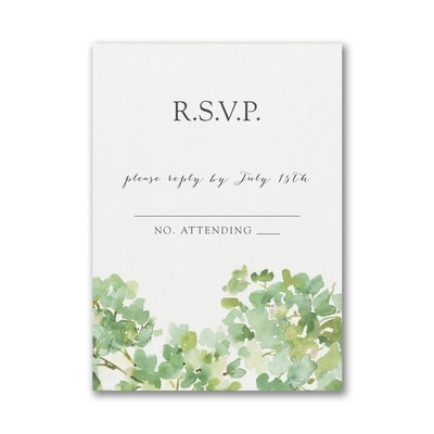 Cascading Vine Response Card and Envelope