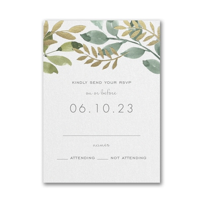 Botanical Grandeur Response Card and Envelope