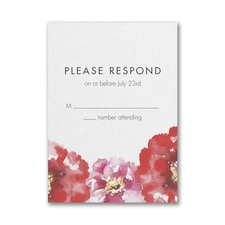 Bloom Bright Response Card and Envelope