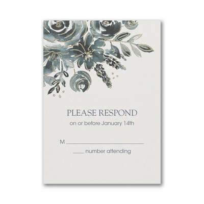 Alluring Roses Response Card and Envelope