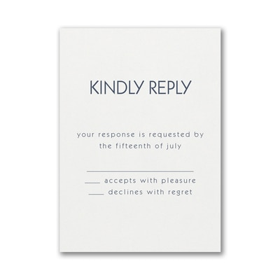 Large Ampersand Response Card and Envelope