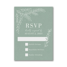 Whimsical Sprigs Response Card and Envelope