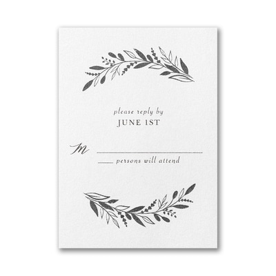Leafy Vines Response Card with Envelope