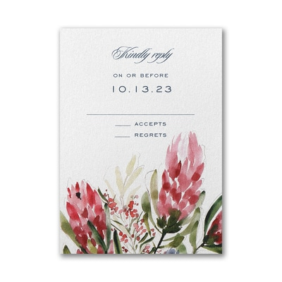Floral Fondness Response Card with Envelope