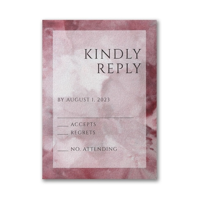 Dyed Ice Response Card with Envelope - Wine