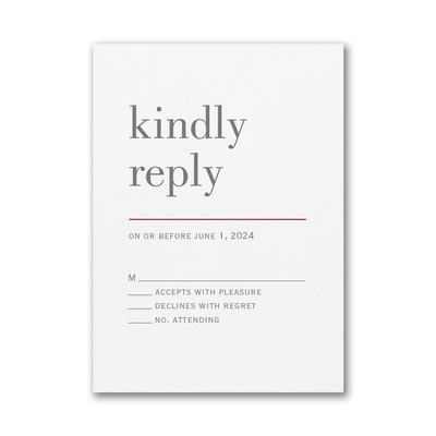 Contemporary Layout Response Card with Envelope