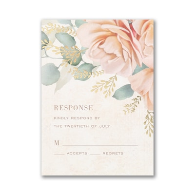 Refreshing Floral Response Card with Envelope