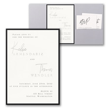 Luxury wedding invitations: Modern Dreams Invitation with Pocket and Backer
