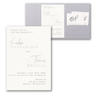 Modern Dreams Invitation with Pocket